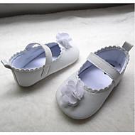baratos Sapatos de Menina-Para Meninas Sapatos Couro Sintético Primavera Verão Primeiros Passos Rasos Velcro para Bebê Branco
