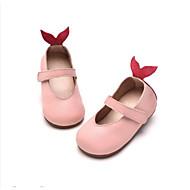 baratos Sapatos de Menina-Para Meninas Sapatos Pele Primavera & Outono Conforto / Sapatos para Daminhas de Honra Rasos para Cinzento / Marron / Rosa claro