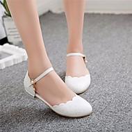 baratos Sapatos de Menina-Para Meninas Sapatos Couro Ecológico Primavera & Outono Conforto / Sapatos para Daminhas de Honra Rasos para Branco / Azul / Rosa claro