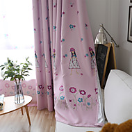 cheap Curtains & Drapes-Blackout Curtains Drapes Kids Room Cartoon Polyester Blend Printed