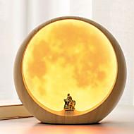 billige Skrivebordslamper-1pc Stikkontakt LED Night Light Varm hvit Usb Søtt / Kreativ / Bedside 5 V