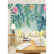 billige Tapet-bakgrunns / Veggmaleri Lerret Tapetsering - selvklebende nødvendig Blomstret / Trær / Blader / 3D
