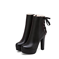 cheap -Women's PU(Polyurethane) Fall & Winter Comfort / Fashion Boots Boots Chunky Heel White / Black / Yellow