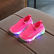 tanie Obuwie chłopięce-Dla chłopców / Dla dziewczynek Obuwie Siateczka Wiosna i jesień Wygoda / Świecące buty Adidasy LED na Dzieci / Brzdąc Czerwony / Zielony / Różowy