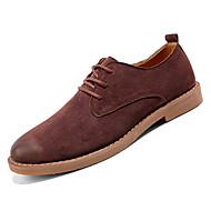 baratos Sapatos Masculinos-Homens Sapatos formais Camurça / Couro Ecológico Outono Oxfords Preto / Marron / Khaki
