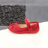 baratos Sapatos de Menina-Para Meninas Sapatos Couro Ecológico Verão Conforto Rasos Mocassim / Velcro para Bébé Dourado / Vermelho