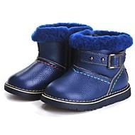 baratos Sapatos de Menino-Para Meninos Sapatos Couro Inverno Botas de Neve Botas Mocassim para Bebê Vermelho / Verde Claro / Azul Real / Botas Curtas / Ankle