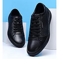 baratos Sapatos Masculinos-Homens Sapatos Confortáveis Pele Napa Primavera Verão / Outono & inverno Casual Tênis Preto