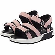 tanie Obuwie dziewczęce-Dla dziewczynek Obuwie PU Lato Wygoda / Buty dla małych druhen Sandały na Czarny / Różowy