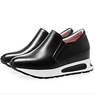 cheap -Women's Shoes Nappa Leather Spring / Summer Comfort Loafers & Slip-Ons Flat Heel Closed Toe White / Black / Silver