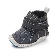 tanie Obuwie chłopięce-Dla chłopców Obuwie Bawełna Jesień & zima Buty do nauki chodzenia Buciki Tasiemka na Dziecięce Czarny / Niebieski