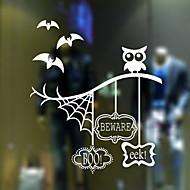 Χαμηλού Κόστους Χριστούγεννα Διακόσμηση-Window Film & αυτοκόλλητα Διακόσμηση Στυλ Λαογραφικό / Halloween Χαρακτήρας PVC Αυτοκόλλητο παραθύρου / Shop / Cafe