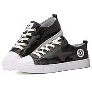 baratos Sapatos Masculinos-Unisexo Sapatos Confortáveis Lona Primavera Verão / Outono & inverno Casual Tênis Preto / Cinzento / Verde