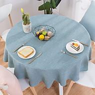billige Bordduker-Moderne 100g / m2 Polyester Strik Stretch / Ikke Vevet Rund Duge Geometrisk Borddekorasjoner 1 pcs