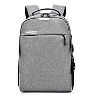cheap School Bags-Unisex Bags Polyester School Bag Zipper Black / Gray