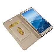 billiga Mobil cases & Skärmskydd-fodral Till Huawei Mate 10 pro / Mate 10 Plånbok / Korthållare / med stativ Fodral Enfärgad Hårt PU läder för Mate 10 / Mate 10 pro / Mate 10 lite