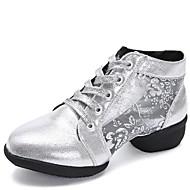billige Dansesneakers-Dame Dansesko Syntetisk Joggesko Tykk hæl Kan spesialtilpasses Dansesko Gull / Svart / Sølv