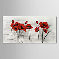 cheap Top Sellings-Oil Painting Hand Painted - Floral / Botanical Modern Rolled Canvas