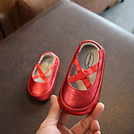 baratos Sapatos de Menina-Para Meninas Sapatos Pele de Carneiro Verão Primeiros Passos Rasos Elástico para Bebê Branco / Vermelho / Rosa claro