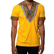 V-hals Herre - Ensfarvet T-shirt / Kortærmet