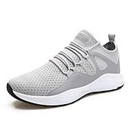 baratos Sapatos Masculinos-Homens Sapatos Confortáveis Tecido elástico Outono & inverno Tênis Corrida / Atletismo Cinzento / Branco e Preto / Preto / Vermelho