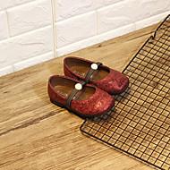 baratos Sapatos de Menina-Para Meninas Sapatos Sintéticos Verão Conforto Rasos Elástico para Bébé Preto / Vermelho / Verde