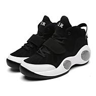 baratos Sapatos Masculinos-Homens Couro Ecológico Verão / Outono Conforto Tênis Basquete Branco / Branco e Preto / Preto / Vermelho