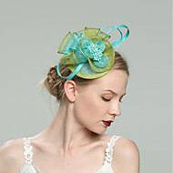 Flax Fascinators with Net 1pc Wedding / Special Occasion Headpiece