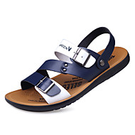 baratos Sapatos de Tamanho Pequeno-Homens Couro Ecológico Verão Conforto Sandálias Estampa Colorida Amarelo / Marron / Azul