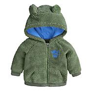 Baby Drenge Basale I-byen-tøj Ensfarvet Langærmet Bomuld Jakke og frakke