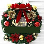 Χαμηλού Κόστους Χριστουγεννιάτικα Διακοσμητικά-Γιρλάντες Διακοπών PVC Κυκλικό Πρωτότυπες Χριστούγεννα Διακόσμηση