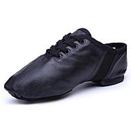 billige Jazz-sko-Dame Jazz-sko Saueskinn Joggesko Flat hæl Dansesko Svart