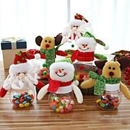 Χαμηλού Κόστους Χριστουγεννιάτικα Διακοσμητικά-3pcs Χριστούγεννα καραμέλες μπορεί χριστουγεννιάτικο ζάχαρη κάτοχος χρήματα κουτιά Χριστουγεννιάτικο πάρτι πίνακα διακόσμηση ζάχαρη κουτί αποθήκευσης μπουκάλι καραμέλα μπορεί