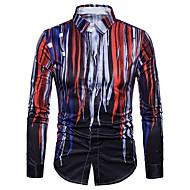 Camicia - Taglie forti Per uomo Serata Moda città / Punk & Gotico Con stampe, Monocolore / Manica lunga / Taglia piccola