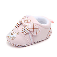 baratos Sapatos de Menina-Para Meninas Sapatos Algodão Primavera & Outono Primeiros Passos Tênis Velcro para Bebê Laranja / Azul / Rosa claro