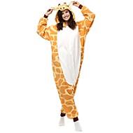 Voksne Kigurumi-pyjamas Giraf Onesie-pyjamas Polarfleece Gul Cosplay Til Damer og Herrer Nattøj Med Dyr Tegneserie Halloween Festival / Højtider