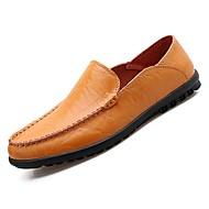 baratos Sapatos de Tamanho Pequeno-Homens Mocassim Couro Ecológico Outono Mocassins e Slip-Ons Preto / Castanho Claro
