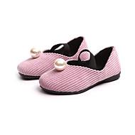 baratos Sapatos de Menina-Para Meninas Sapatos Cetim / Couro Ecológico Primavera & Outono / Primavera Conforto / Sapatos para Daminhas de Honra Rasos Caminhada Pérolas Sintéticas para Infantil / Adolescente Preto / Rosa claro
