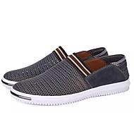 baratos Sapatos de Tamanho Pequeno-Homens Com Transparência Verão Conforto Mocassins e Slip-Ons Azul Escuro / Cinzento