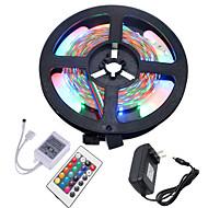 Χαμηλού Κόστους Φωτιστικά Λωρίδες LED-HKV 5m Ευέλικτες LED Φωτολωρίδες / Φωτολωρίδες RGB 300 LEDs 3528 SMD RGB Μπορεί να κοπεί / Συνδέσιμο / Αυτοκόλλητο 12 V