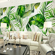 billige Tapet-bakgrunns / Veggmaleri Lerret Tapetsering - selvklebende nødvendig Trær / Blader / Mønster / 3D