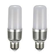 billige Kornpærer med LED-2pcs 12 W 1100 lm E26 / E27 LED-kornpærer T 43 LED perler SMD 5730 Nytt Design Varm hvit / Hvit 85-265 V