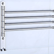 Towel Bar Creative Contemporary Stainless Steel / Iron 1pc 4-towel bar Wall Mounted