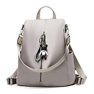 billige Skoletasker-Dame Tasker Oxfordtøj Skoletaske Solid Helfarve Sort / Kakifarvet