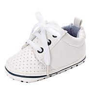 baratos Sapatos de Menino-Para Meninos / Para Meninas Sapatos PVC Outono & inverno Conforto / Primeiros Passos Rasos Cadarço / Vazados para Bebê Branco / Prata / Azul Escuro