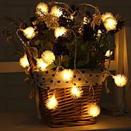 Χαμηλού Κόστους Φώτα LED-2,2 μέτρα Φώτα σε Κορδόνι 20 LEDs Θερμό Λευκό Λατρευτός Μπαταρίες AA Powered 1pc