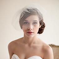Δύο-βαθμίδων Πεπαλαιωμένο Στυλ / Κλασσικό στυλ Πέπλα Γάμου Πέπλο προσώπου με Μονόχρωμο Τούλι
