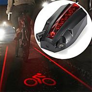 Laser LED Światła rowerowe Tylne światła Kolarstwo górskie Kolarstwo Wodoodporny Kreatywne Trwały Akumulator 100 lm Czerwony Kolarstwo / Rower / ABS