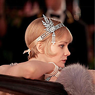 The Great Gatsby Pendant 1920s Roaring 20s Costume Women's Flapper Headband Head Jewelry Black / Silver / Golden Vintage Cosplay Party Prom / Tassel / Leaf