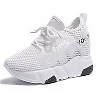 Χαμηλού Κόστους Περπάτημα-Γυναικεία Παπούτσια άνεσης Δίχτυ Ανοιξη καλοκαίρι Αθλητικά Παπούτσια Περπάτημα Επίπεδο Τακούνι Λευκό / Μαύρο